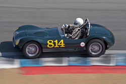 Kevin Adair - 1955 Elva Mk 1 in Group 6B - 1955-1961 Sports Racing Cars under 2000cc at the 2017 Rolex Monterey Motorsport Reunion run at Mazda Raceway Laguna Seca