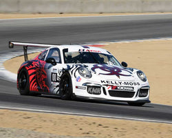Jay Patel with 2015 Porsche GT3 Cup in Group 7 - Porsche GT3 Cup at the 2015 Rennsport Reunion V, Mazda Raceway Laguna Seca