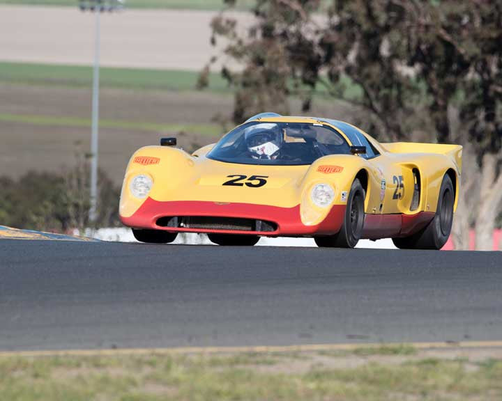 Martin Lauber with 1970 Chevron B19 in Group 7  at the 2016 CSRG David Love Memorial - Sears Point Raceway
