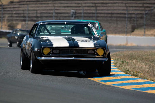 Bill Godwin with 1968 Chevrolet Camaro Z28 in Group 10 at the 2016 SVRA Sonoma Historics - Sears Point Raceway