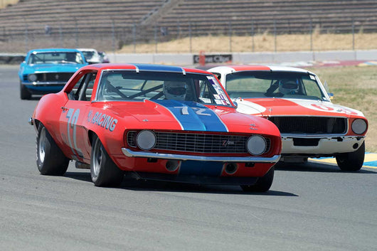 Steve Link with 1969 Chevrolet Camaro in Group 10 at the 2016 SVRA Sonoma Historics - Sears Point Raceway