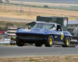 Bruce Trenery with 1964 Chevrolet Corvette in Group 6 - 1962-1972 Production and GT Cars Over 2000cc at the 2015 Sonoma Historic Motorsports Festival at Sonoma Raceway