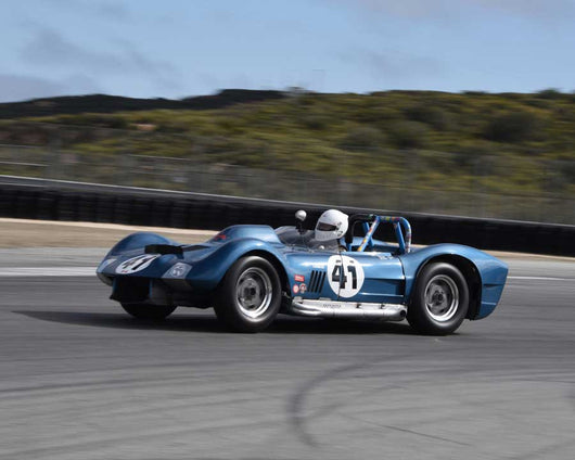 Greg Meyer with 1962 Dailu MK2 in Group 1 at the 2015 HMSA LSR Invitational II at Mazda Raceway Laguna Seca