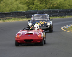 Ken Pieri driving his 1963 Elva Courier in Group 2 at the 2015 CSRG David Love Memorial Vintage Car Road Races at Sonoma Raceway