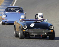 Chris Gruys with 1964 Sunbeam Tiger in  Group 3 at the 2015 Season Finale at Thunderhill Raceway