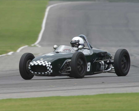 Miles Whitlock with 1959 Lotus 18 in Group 3 at the 2015 HMSA Barber Historics