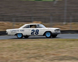 Sheelagh Murphy with 1963 Ford Galaxie in Group 5 - Grand National Stock Cars at the 2015 Sonoma Historic Motorsports Festival at Sonoma Raceway