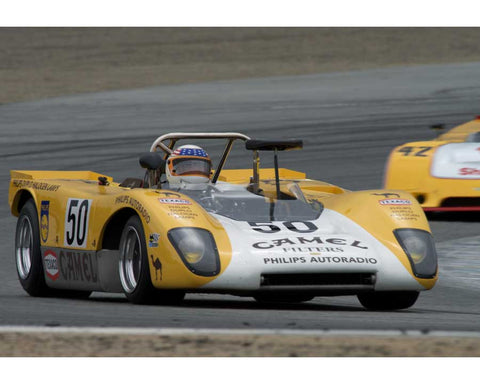 John Delane driving his Lola T212 in Group 5 at the 2015 HMSA Spring Club Event at Mazda Raceway Laguna Seca