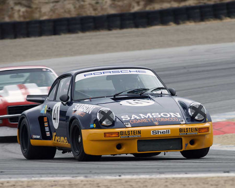 Steve Schmidt driving his Porsche 911 RSR in Group 6 at the 2015 HMSA Spring Club Event at Mazda Raceway Laguna Seca