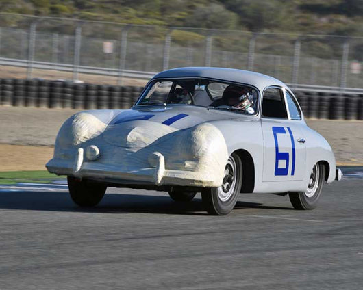 Mike Copperthite with 1953 Porsche 356 in Group 2 - Gmund Cup at the 2015 Rennsport Reunion V, Mazda Raceway Laguna Seca