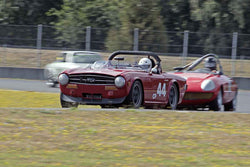 Charly Mitchel - 1969 Triumph TR6 in Group 2 at the 2016 SOVREN Columbia River Classic - Portland International Raceway