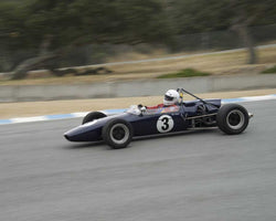 Rob Forbes driving his 1967 Brabham BT21 in Group 2 at the 2015 HMSA LSR Inventional I at Mazda Raceway Laguna Seca
