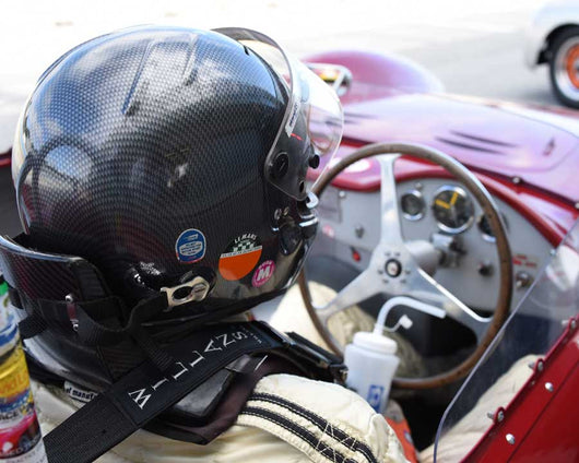 Ned Spieker with 1957 Maserati 200SI in Group 1 at the 2015 HMSA LSR Invitational II at Mazda Raceway Laguna Seca