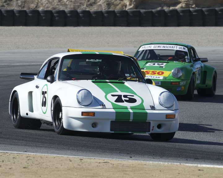 Ned Bacon with 1975 Porsche 911 RSR in Group 5 - Carrera Trophy at the 2015 Rennsport Reunion V, Mazda Raceway Laguna Seca