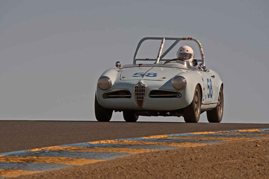 Jonathan Burke - 1957 Alfa Romeo Giulietta Spyder in Group 1 -  at the 2016 Charity Challenge - Sonoma Raceway