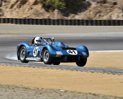Greg Meyer with 1962 Dailu MK2 in Group 5A - 1955-1961 Sports Racing Cars over 2000cc at the 2015-Rolex Monterey Motorsport Reunion, Mazda Raceway Laguna Seca
