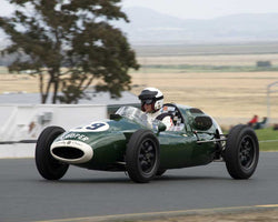 Luca Maciucescu with 1957 Cooper T43 in Group 8 - 1956-1963 Formula Junior cars at the 2015 Sonoma Historic Motorsports Festival at Sonoma Raceway