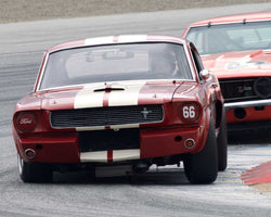 Mark Cane driving his Shelby GT350 in Group 6 at the 2015 HMSA Spring Club Event at Mazda Raceway Laguna Seca