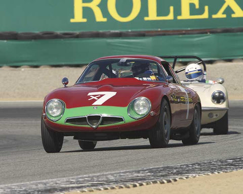 William Kirkwood with 1961 Elva Courier Mk II in Group 4B - 1961-1966 GT Cars under 2500cc at the 2015-Rolex Monterey Motorsport Reunion, Mazda Raceway Laguna Seca