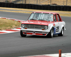 Ken Garchow with 1971 Datsun 510 in Group 3 - Medium Displacement Production Card at the 2015 Portland Vintage Racing Festival at Portland International Raceway