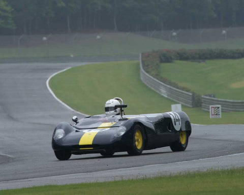 Robert Davis with 1963 Lotus 23 in Group 3 at the 2015 HMSA Barber Historics