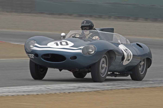 Chris MacAllister - 1955 Jaguar D-Type in Group 2A  at the 2016 Rolex Monterey Motorsport Reunion - Mazda Raceway Laguna Seca