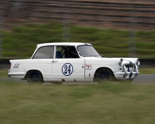 Jerry Barker with 1963 Triumph Herald in Group 10 at the 2016 CSRG David Love Memorial - Sears Point Raceway