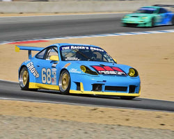 Kevin Roush with 2000 Porsche GT3R in Group 6 - Stuttgart Cup at the 2015 Rennsport Reunion V, Mazda Raceway Laguna Seca