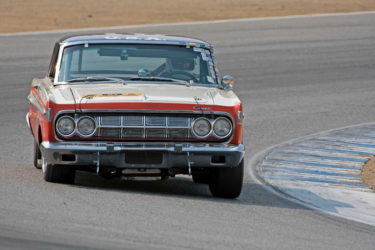 Greg Umphenour - 1964 Mercury Comet in Group 6B  at the 2016 Rolex Monterey Motorsport Reunion - Mazda Raceway Laguna Seca
