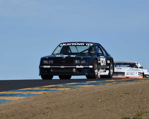 Ross Myers with 1982 Ford Mustang in Group 13 - 1982-1991 Historic IMSA GTO/SCCA Trans-Am at the 2015 Sonoma Historic Motorsports Festival at Sonoma Raceway
