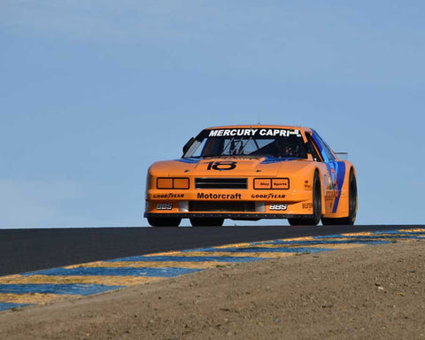 Kenneth Davis with 1985 Roush Mercury Capri in Group 13 - 1982-1991 Historic IMSA GTO/SCCA Trans-Am at the 2015 Sonoma Historic Motorsports Festival at Sonoma Raceway