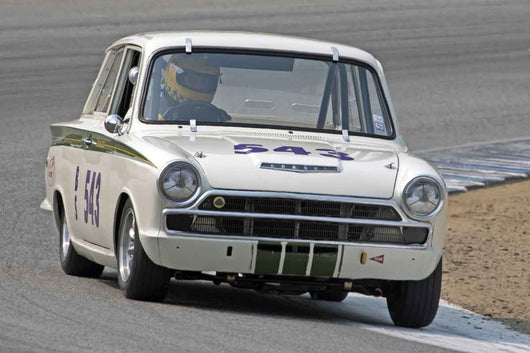 Roger Andriesse - 1965 Lotus Cortina in Group 4B  at the 2016 Rolex Monterey Motorsport Reunion - Mazda Raceway Laguna Seca