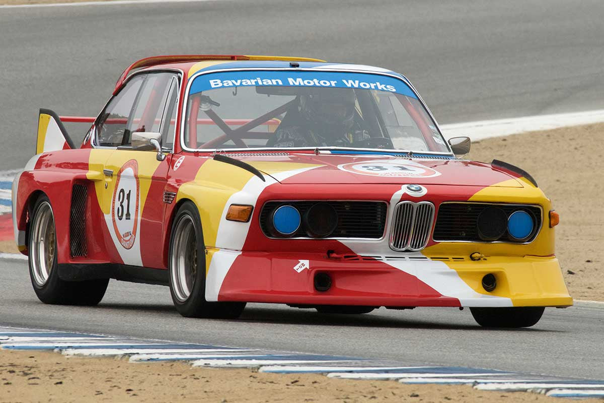 Dean DeSantis - 1973 BMW CSL in Group 4A  at the 2016 Rolex Monterey Motorsport Reunion - Mazda Raceway Laguna Seca