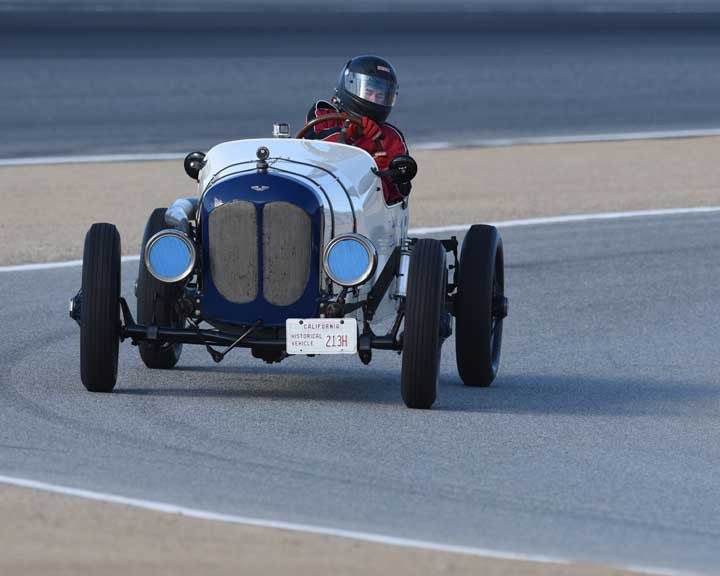 Jim Nix with 1926 Ford Model T Racer in Group 1A - Pre 1940 Sports Racing and Touring Cars at the 2015-Rolex Monterey Motorsport Reunion, Mazda Raceway Laguna Seca