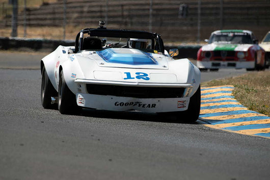 Bob Matkovich with 1968 Chevrolet Corvette in Group 12 at the 2016 SVRA Sonoma Historics - Sears Point Raceway