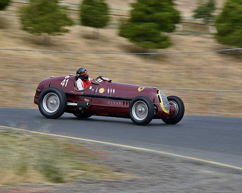Peter Greenfield with 1935 Alfa Romeo 8C with 35 in Group 1 - Pre-1941 Sport and Touring, 1925-1941 Racing Cars at the 2015 Sonoma Historic Motorsports Festival at Sonoma Raceway