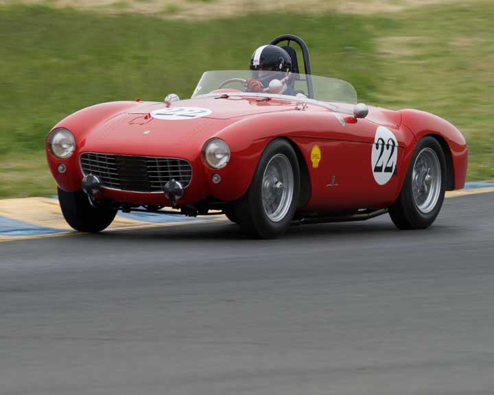 Jeffrey Abramson with 1954 Ferrari Mondial in Group 9 - at the 2016 CSRG David Love Memorial - Sears Point Raceway
