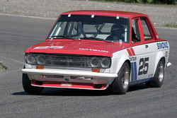 Kevin Shaha with 1971 Datsun 510 in Groups 2&3  at the 2016 SOVREN Spring Sprints, Pacific Raceway