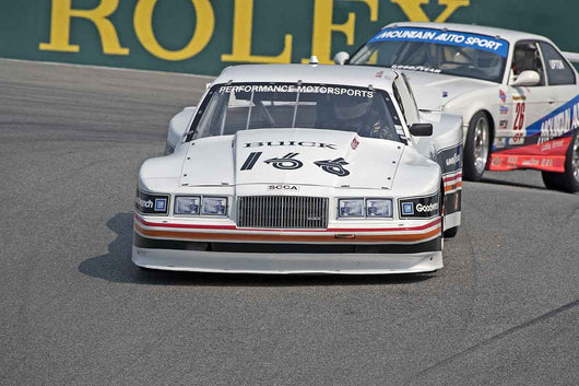 Mike McNamee - 1985 Buick Somerset in Group 5B  at the 2016 Rolex Monterey Motorsport Reunion - Mazda Raceway Laguna Seca