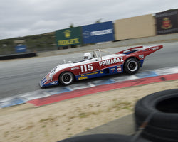Cal Meeker driving his Lola T294 in Group 5 at the 2015 HMSA Spring Club Event at Mazda Raceway Laguna Seca