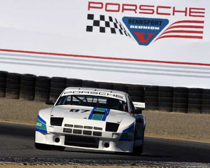 Martin Lauber with 1980 Porsche 924GTR in Group 5 - Carrera Trophy at the 2015 Rennsport Reunion V, Mazda Raceway Laguna Seca