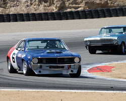 Bruce Canepa with 1970 AMC Javelin in Group 6B - 1966-1972 Historic TransAM Cars at the 2015-Rolex Monterey Motorsport Reunion, Mazda Raceway Laguna Seca