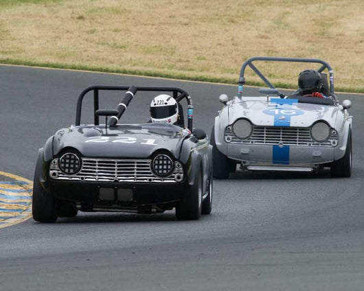 Frank Daley with 1964 Triumph TR4A in Group 10 at the 2016 CSRG David Love Memorial - Sears Point Raceway
