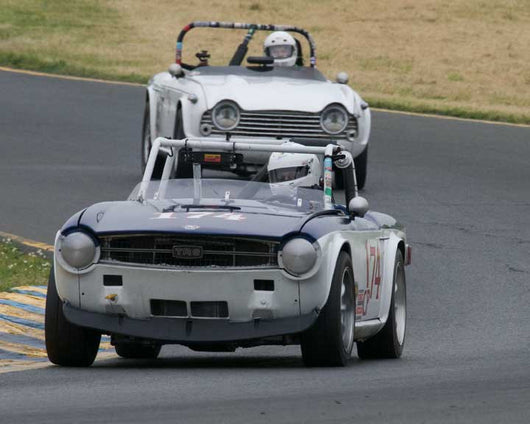Chuck Arnold with 1969 Triumph TR6 in Group 10 at the 2016 CSRG David Love Memorial - Sears Point Raceway