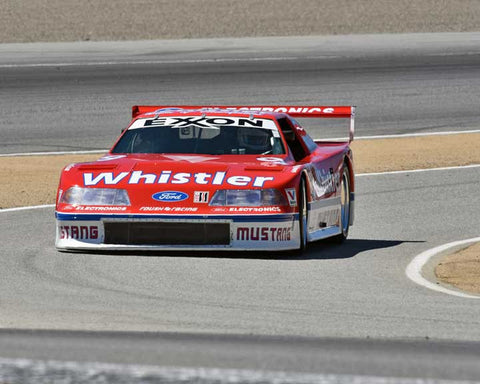 Steve Schuler with 1991 Ford Roush IMSA GTO Mustang in Group 7A - 1981-1991 FIA/IMSA GTP, GTO Cars at the 2015-Rolex Monterey Motorsport Reunion, Mazda Raceway Laguna Seca