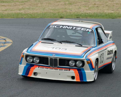 Thor Johnson with 1974 BMW Schnitzer 3.5 Liter in Group 8 - at the 2016 CSRG David Love Memorial - Sears Point Raceway