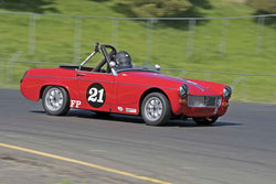 Bill Greenman - 1967 MG Midget in Group 2 at the 2017 CSRG David Love Memorial - Sears Point Raceway