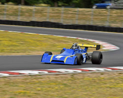 John Hill with 1975 Chevron B29 in Group 9 - Wings and Slicks - Open Wheel Cars 1973-2008 at the 2015 Portland Vintage Racing Festival at Portland International Raceway