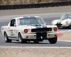 Bob Stockwell driving his Ford Mustang in Group 6 at the 2015 HMSA Spring Club Event at Mazda Raceway Laguna Seca