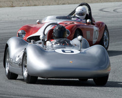 Frank Altamura with 1955 Porsche Special Spyder Pupulidy at the 2016 HMSA LSR Invitational I at Mazda Raceway Laguna Seca